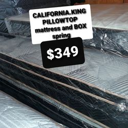 CALIFORNIA.KING PILLOWTOP AND BOX SPRING for Sale in Fresno,  CA