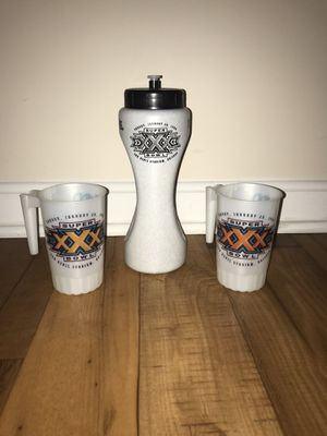 Super Bowl 30 Cups and Thermos for Sale in Evansville, IN