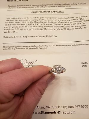 Diamond Engagement Ring for Sale in Midlothian, VA