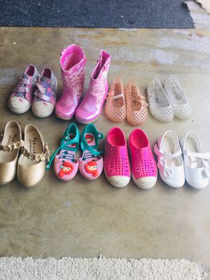 Size 9T Assorted Girl Shoes for Sale in Long Beach, CA