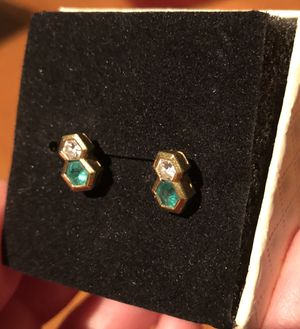 Tiffany emerald and diamond earrings for Sale in Tempe, AZ