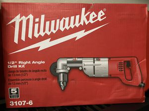New Milwaukee 7 Amp Corded 1/2 in. Corded Right-Angle Drill Kit with Hard Case for Sale in Kissimmee, FL