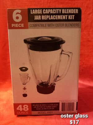 Oster blender replacement glass cup for Sale in Moreno Valley, CA
