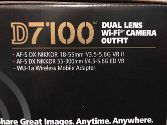 Nikon D7100 + 2 lenses + Wireless Mobile Adapter for Sale in Thornton,  CO