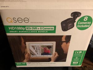 Q see home surveillance/ security cameras 8ch DVR + 8 cameras for Sale in Seattle, WA