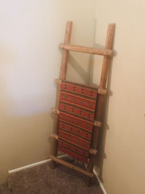 SOUTHWEST LADDER WITH MEXICAN WOOL THROW for Sale in Phoenix, AZ