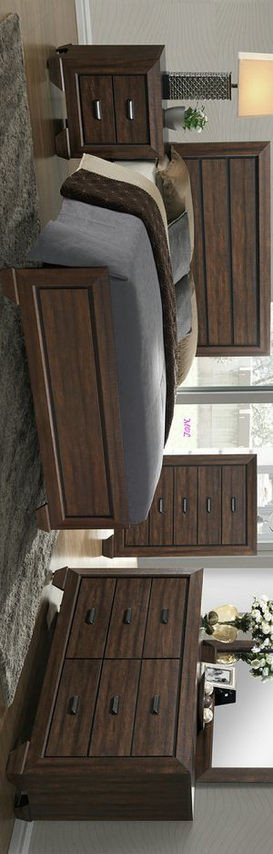 [39 DOWN P.] Brand New Nuevo Twin Full Queen King Bedroom Set (Juego De Dormitorio) By Crown Mark from👈 $699 Farrow Chocolate for Sale in Houston, TX
