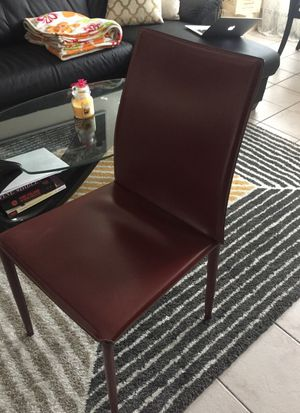 Set of 4 chairs (Leather) for Sale in Boston, MA