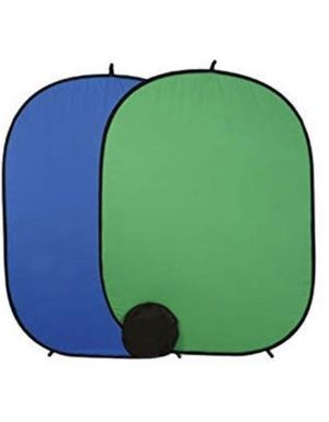 Backdrop Collapsible Reversible Background 5'x7' Chroma-Key Blue/Green for Sale in Alexandria, VA