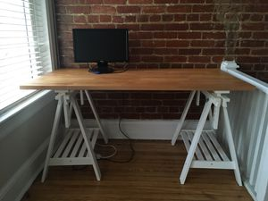 IKEA solid wood desk with Finnvard adjustable legs for Sale in Washington, DC