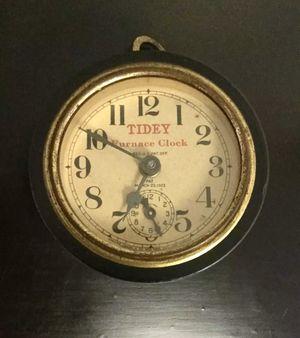 Vintage 1923 Tidey Furnace Alarm Clock R.H. Macy Greene Tweed & Co Working for Sale in Brooklyn, NY