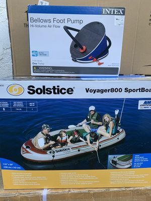🔥BRAND NEW 6 person inflatable fishing boat water sports activities CAN ADD A MOTOR for Sale in Los Angeles, CA