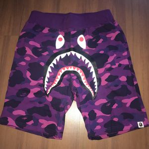 Bape purple Camo Shark shorts size 2XL and L for Sale in Boston, MA