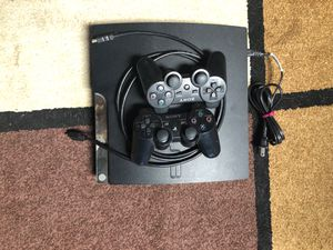 PS3 with 2 controllers & cable for Sale in Lancaster, CA