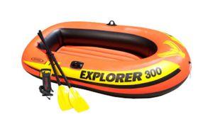 Intex Explorer 300 Boat Set with Oars, Orange for Sale in Los Angeles, CA