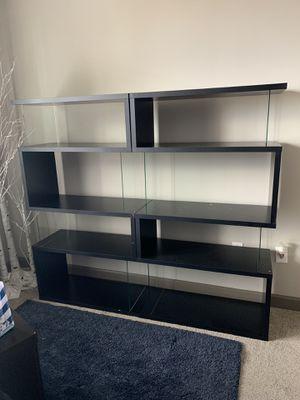 Two Glass bookshelves for Sale in Atlanta, GA