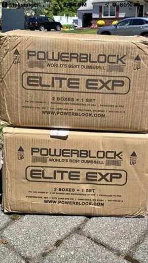 PowerBlock Elite EXP adjustable Dumbbells, 50lbs each for Sale in Rutherford, NJ
