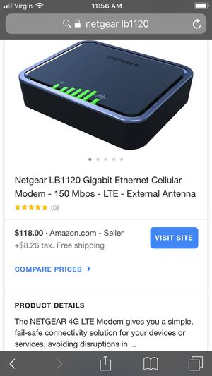 Netgear modem just need sim can use as a travel modem for Sale in West Palm Beach, FL