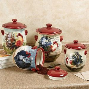 "Susan Winget Certified International ""Le Rooster"" Ceramic Canister Set for Sale in Gaithersburg, MD"