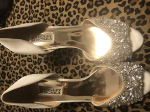 Badgley Mischka bridal shoes 7.5 for Sale in Crofton, MD