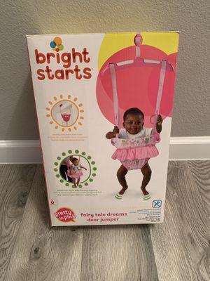 Bright Starts door jumper/ baby girl door jumper for Sale in Phoenix, AZ