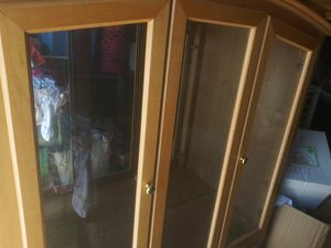 China cabinet with glass shelves for Sale in Stockton, CA