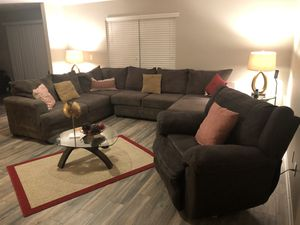 Huge sectional and oversized recliner for Sale in Whitsett, NC