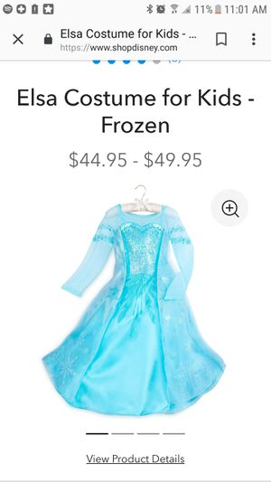 Elsa Frozen Disney Store dress child's costume for Sale in Los Angeles, CA