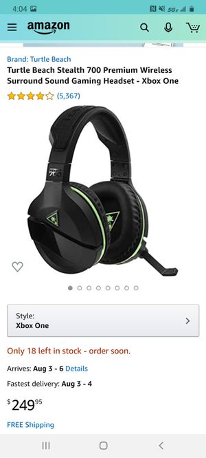 Turtle Beach Stealth 700 Premium Wireless Surround Sound Gaming Headset - Xbox One for Sale in Glendale, AZ