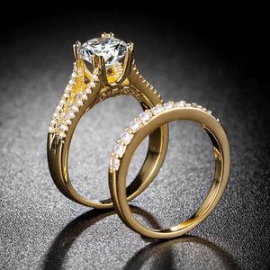18K Yellow Gold plated Wedding/Promise/Engagement Ring Set for Sale in Sacramento, CA