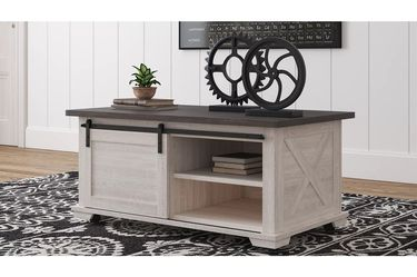 NEW, GRAY AND ANTIQUED WHITE COLOR, COFFEE TABLE, SKU#TC287.gray and antiqued white color� for Sale in Westminster,  CA