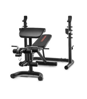 Weider XRS 20 Olympic Workout Bench with Independent Squat Rack and Preacher Pad for Sale in Hayward, CA