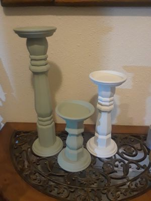 Wood candle holders for Sale in San Antonio, TX