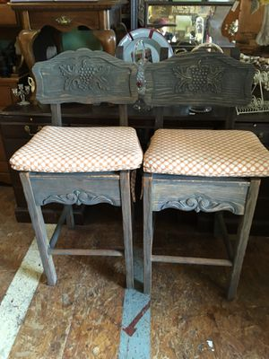 Vintage Solid wood bar stools chairs for Sale in San Diego, CA