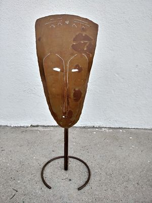 "19"" Tall Metal Mask Candle Holder for Sale in Burbank, CA"