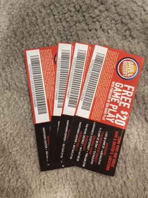 Dave and busters coupons for Sale in Schaumburg, IL