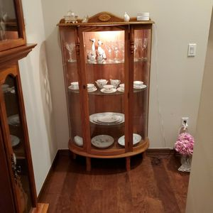 Curio Cabinet - Oak for Sale in Sumner, WA