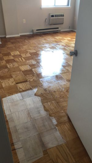Scraped and varnished wood floor for Sale in Alexandria, VA