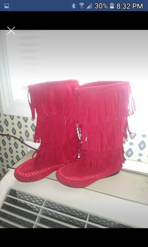 Got Tomato Red Tassel' d Boots girl/youth 13 for Sale in Abingdon, VA
