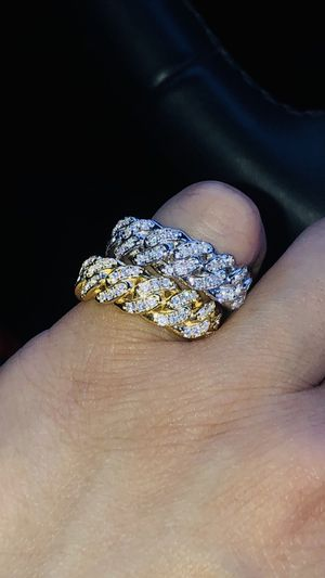 New - size 6-9 Cuban link diamond ring for Sale in Lawndale, CA