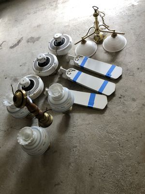 Ceiling fans and light fixtures for Sale in Pasadena, MD