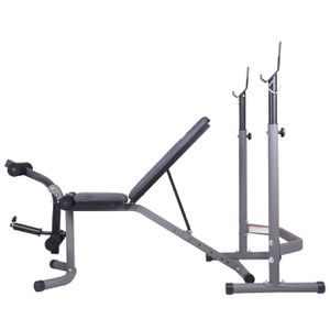 Weight Bench with Leg Extension Curl Lift Attachment, 2-Piece Combo Bench and Squat Rack for Sale in Sanford, NC