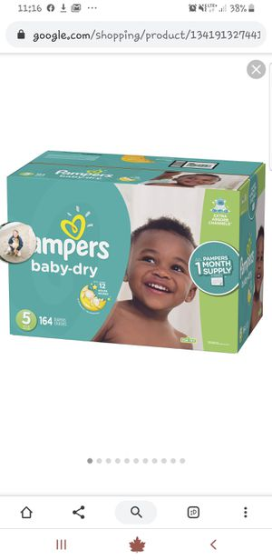 Pampers baby dry diapers for Sale in Wayne, NJ