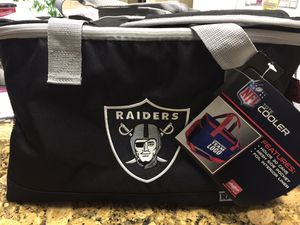 Oakland Raiders Cooler or Heat Carry bag. Holds 30 cans for Sale in Elk Grove, CA