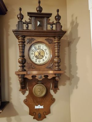 German Antique Black Forest Free Swinger Balcony Wall Clock for Sale in Northbrook, IL