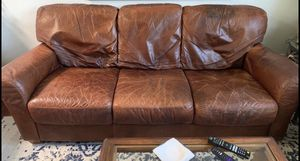 Leather Sofa and Loveseat PPU for Sale in La Costa, CA