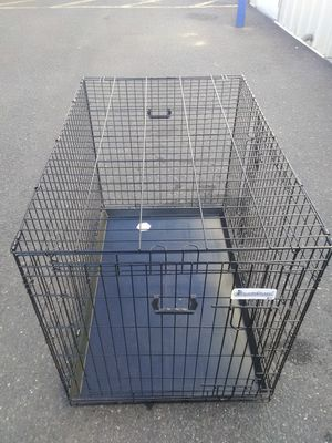 Dog Cage/ Crate extra large new folds for easy Storage or transport includes double doors and bottom changing tray pick up a curbside del. avail for Sale in Philadelphia, PA