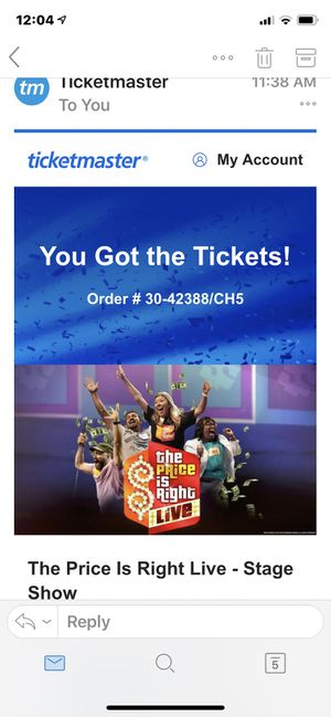 The Price Is Right Live at PAC 4:00 orchestra for Sale in Neenah, WI