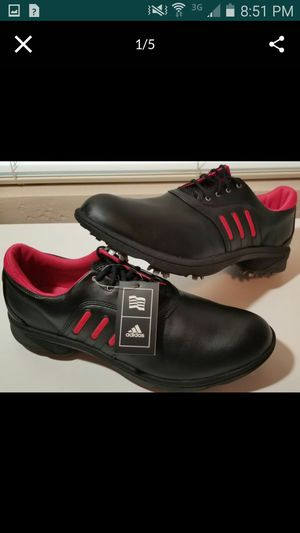 BRAND NEW Womens Adidas ComfortStripe Golf Spikes Shoes - SZ 11 for Sale in Chandler, AZ