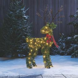 Pre-Lit Light Up Topiary Winter Garden Reindeer for Sale in Los Angeles,  CA